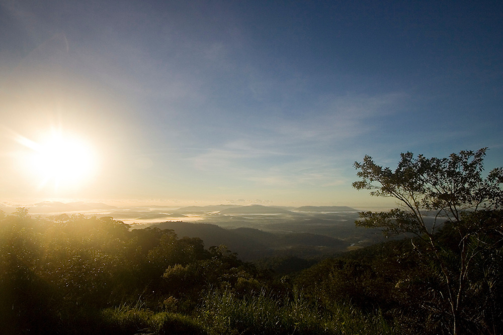Early morning view from Serra Bonita, Bahia State, Brazil