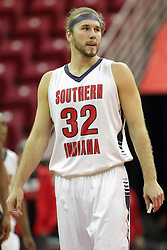08 November 2015: Shane Seniour(32). Illinois State Redbirds host the Southern Indiana Screaming Eagles and beat them 88-81 in an exhibition game at Redbird Arena in Normal Illinois (Photo by Alan Look)