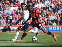 Max Gradel of Bournemouth attacks on the edge of the box under pressure from Mousa Dembele of Tottenham Hotspur - Mandatory by-line: Alex James/JMP - 22/10/2016 - FOOTBALL - Vitality Stadium - Bournemouth, England - AFC Bournemouth v Tottenham Hotspur - Premier League