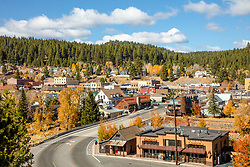 """Downtown Truckee 72"" - Autumn photograph Historic Downtown Truckee, California."