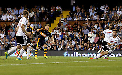 Matt Ritchie of Newcastle United has a shot with appears to hit Tomas Kalas of Fulham on the hand - Mandatory by-line: Robbie Stephenson/JMP - 05/08/2016 - FOOTBALL - Craven Cottage - Fulham, England - Fulham v Newcastle United - Sky Bet Championship
