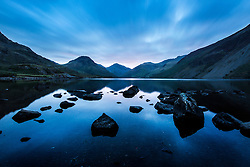© Licensed to London News Pictures. 16/09/2015. Buttermere, UK. Picture shows this mornings sunrise over Wast Water, Cumbria woke this morning to Bright sunshine. Photo credit: Andrew McCaren/LNP