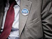 Il simbolo elettorale del partito Fratelli d'Italia, il centro destra nazionale. Roma, 5 febbraio 2013. Christian Mantuano / OneShot