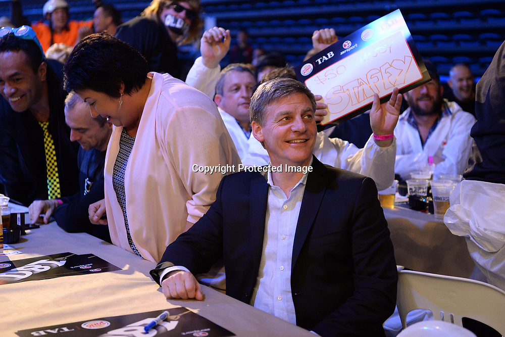 New Zealand Prime Minister Bill English seen enjoying the game during Day 3 of the Auckland Darts Masters 2017. Trusts Arena, Henderson. Sunday 13th August 2017. Copyright Photo: Raghavan Venugopal / © www.Photosport.nz 2017