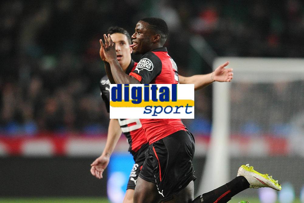 Fotball<br /> Frankrike<br /> Foto: Panoramic/Digitalsport<br /> NORWAY ONLY<br /> <br /> Vincent Pajot (Rennes)<br /> Paul Georges Ntep (Rennes)