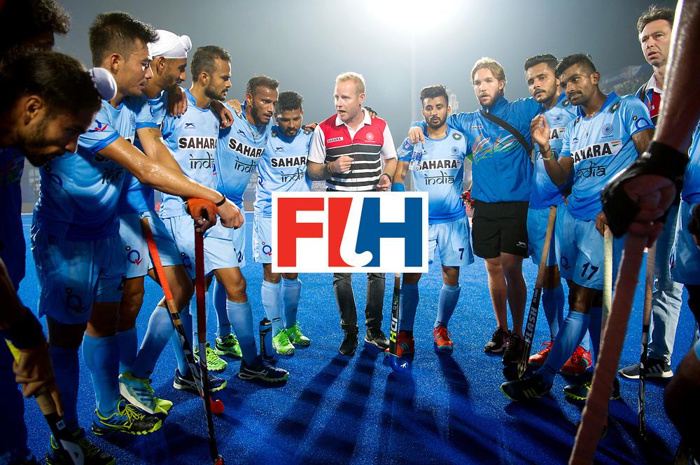 Odisha Men's Hockey World League Final Bhubaneswar 2017<br /> Match id:02<br /> Australia v India<br /> Foto: Sjoerd MARIJNE after the match speech.<br /> WORLDSPORTPICS COPYRIGHT FRANK UIJLENBROEK