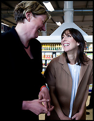 Samantha Cameron with the Conservative Party Candidate for Delyn, North Wales Antoinette Sandbach during a Q&A at Tesco in Holywell, Flintshire, North Wales, Sunday May 2, 2010.   Photo By Andrew Parsons / i-Images.