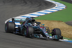 July 20, 2018 - Hockenheim, Germany - #44 Lewis Hamilton (GBR, Mercedes AMG Petronas Motorsport) during practcice at FIA Formula One World Championship 2018, Grand Prix of Germany. (Credit Image: © Hoch Zwei via ZUMA Wire)