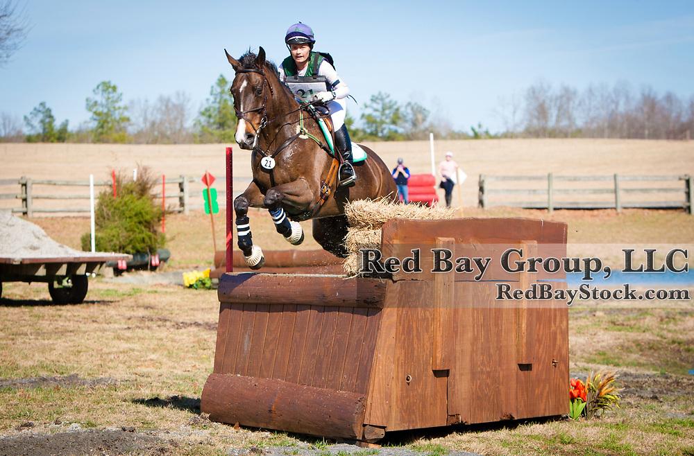 Kimberly Kojima and High Time II at the 2014 Pine Top Farm Advanced Horse Trials in Thomson, Georgia.