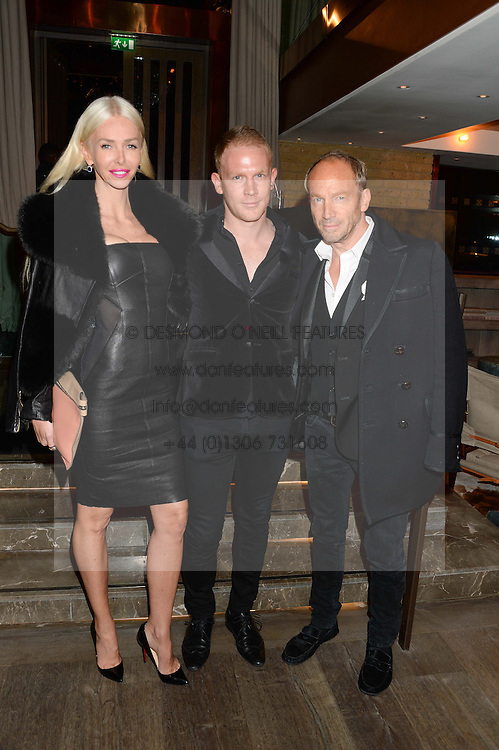 Left to right, AMANDA CRONIN, REX NEWMARK and ROBERT NEWMARK at the Launch of Pont St Restaurant at Belgraves Hotel, 20 Chesham Place, London SW1 on 10th September 2013.
