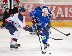 13.02.2016, Olympiaworld, Innsbruck, AUT, Euro Ice Hockey Challenge, Slowakei vs Slowenien, im Bild Vaclav Stupka (SVK), Robert Sabolic (SLO) und Ales Music (SLO) // Vaclav Stupka of Slovakia Robert Sabolic of Slowenia and Ales Music of Slowenia during the Euro Icehockey Challenge Match between Slovakia and Slovenia at the Olympiaworld in Innsbruck, Austria on 2016/02/13. EXPA Pictures © 2016, PhotoCredit: EXPA/ Jakob Gruber