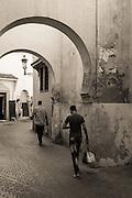 Arches near Ben Youssef Medersa in Marrakech