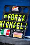 Circuito de Jerez, Spain : Formula One Pre-season Testing 2014. Ferrari message for Michael Schumacher