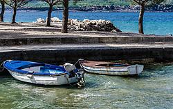 THEMENBILD - die Fischerboote im Hafen von Crikvenica, Kroatien, aufgenommen am 19. April 2017, Crikvenica, Kroatien // The fishing boats in the port of Crikvenica, Croatia, on 2017/04/19, Crikvenica, Croatia. EXPA Pictures © 2017, PhotoCredit: EXPA/ Stefanie Oberhauser