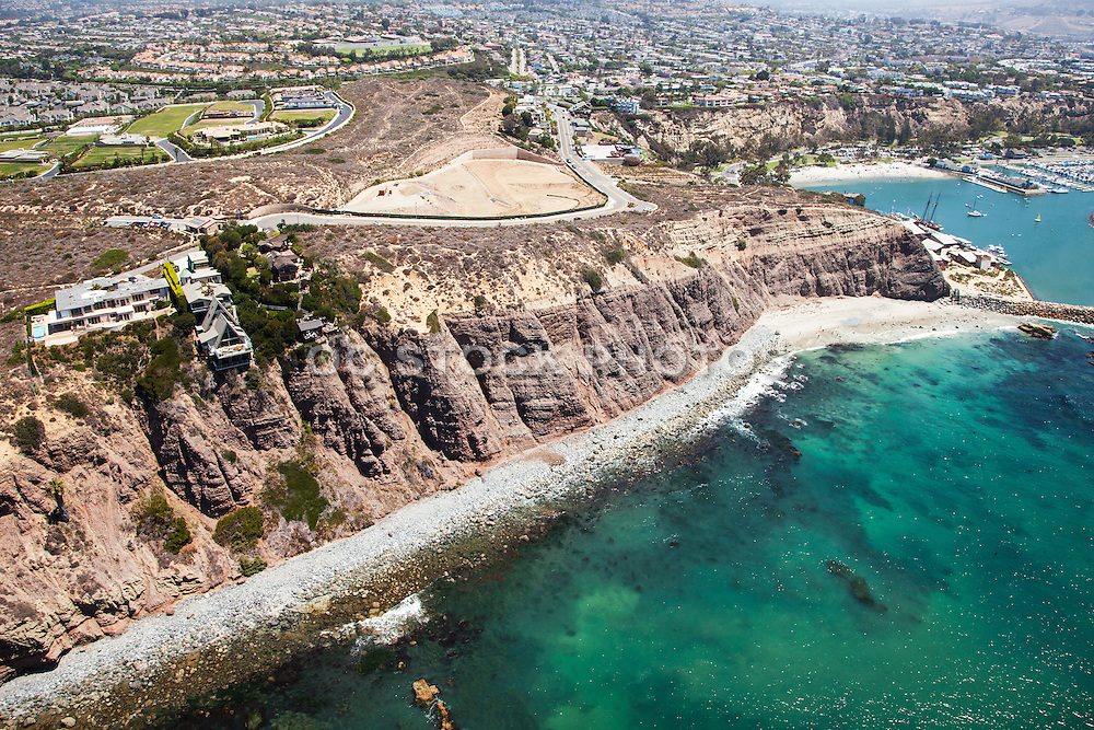 Dana Point Headlands Aerial Stock Photo