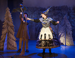 Hansel and Gretel <br /> by Lucy Kirkwood<br /> devised and directed by Katie Mitchell &amp; Lucy Kirkwood<br /> <br /> at The Cottesloe Theatre, Southbank, London, Great Britain <br /> <br /> Press photocall<br /> <br /> 12th December 2012 <br /> <br /> <br /> Ruby Bentall as Gretel<br /> <br /> Dylan Kennedy as Hansel <br /> <br /> Justin Salinger as Johann<br /> <br /> Amit Shah as Marta<br /> <br /> <br /> Kate Duchene as Witch<br /> <br /> Justin Salinger as Stuart the Bat <br /> <br /> <br /> Photograph by Elliott Franks