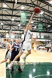20 February 2016:  Molly McGraw during an NCAA women's basketball game between the Elmhurst Bluejays and the Illinois Wesleyan Titans in Shirk Center, Bloomington IL