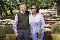 """Oprah Winfrey releases a photo on Twitter with the following caption: """""""".@EckhartTolle has had a profound influence on me. Join us for a special 10-part @SuperSoul Podcast series. One of my all-time favorite things to talk about. Quiet your mind, get your ego in check & live a fully present life. Join us TODAY & every Monday. https://t.co/LHTOX5Txib"""""""". Photo Credit: Twitter *** No USA Distribution *** For Editorial Use Only *** Not to be Published in Books or Photo Books ***  Please note: Fees charged by the agency are for the agency's services only, and do not, nor are they intended to, convey to the user any ownership of Copyright or License in the material. The agency does not claim any ownership including but not limited to Copyright or License in the attached material. By publishing this material you expressly agree to indemnify and to hold the agency and its directors, shareholders and employees harmless from any loss, claims, damages, demands, expenses (including legal fees), or any causes of action or allegation against the agency arising out of or connected in any way with publication of the material."""