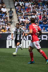 July 28, 2018 - Harrison, New Jersey, United States - Juventes players dribble the ball upfield during the International Champions Cup at Red Bull Arena in Harrison, NJ.  Juventes vs Benfica (Credit Image: © Mark Smith via ZUMA Wire)
