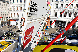 31.07.2015, Mariahilfer Straße, Wien, AUT, ISFC, Free Solo Masters MAHÜ, Vorqualifikation, im Bild Julian Gahbauer // during the prequalification of the ISFC Free Solo Masters MAHÜ at the Mariahilfer Straße in Vienna, Austria on 2015/07/31. EXPA Pictures © 2015, PhotoCredit: EXPA/ Sebastian Pucher