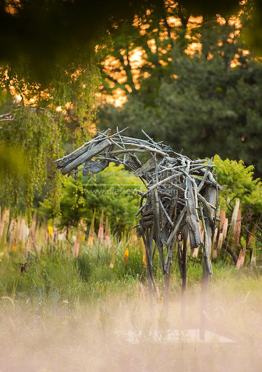 Walker exhibit in the evening