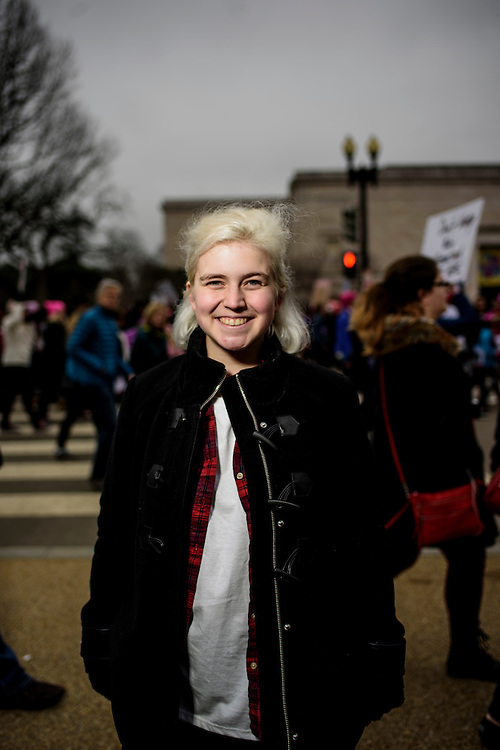 Washington, D.C. - January 21, 2017: Mairead Kress, 20, New Jersey.<br /> <br /> An estimated half a million people showed up to the nation's capital for the Women's March on Washington Saturday January 21, 2106.<br /> <br /> <br /> CREDIT: Matt Roth for Buzzfeed