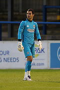 AFC Wimbledon goalkeeper James Shea (1) during the Pre-Season Friendly match between Dover Athletic and AFC Wimbledon at Crabble Athletic Ground, Dover, United Kingdom on 12 July 2016. Photo by Stuart Butcher.