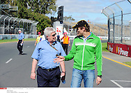 Grand Prix d'Australie de formule 1..Melbourne 24 mars 2010..Illustration paddock..Photo: Stéphane Mantey/ L'Equipe *** Local Caption *** blash (herbie)..petrov (vitaly) - (rus) -