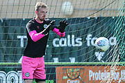 Forest Green Rovers (34) warming up during the EFL Sky Bet League 2 match between Forest Green Rovers and Colchester United at the New Lawn, Forest Green, United Kingdom on 14 September 2019.
