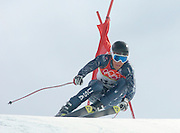 2/14/06 -- The 2006 Torino Winter Olympics -- Sestriere , Italy. -- Alpine skiing - Men's Downhill Combined -- .USA Team skier Steven Nyman rounds a gate during the downhill portion of the men's combined event in Sestriere Borgata, Italy....Photo by Scott Sady, USA TODAY staff.
