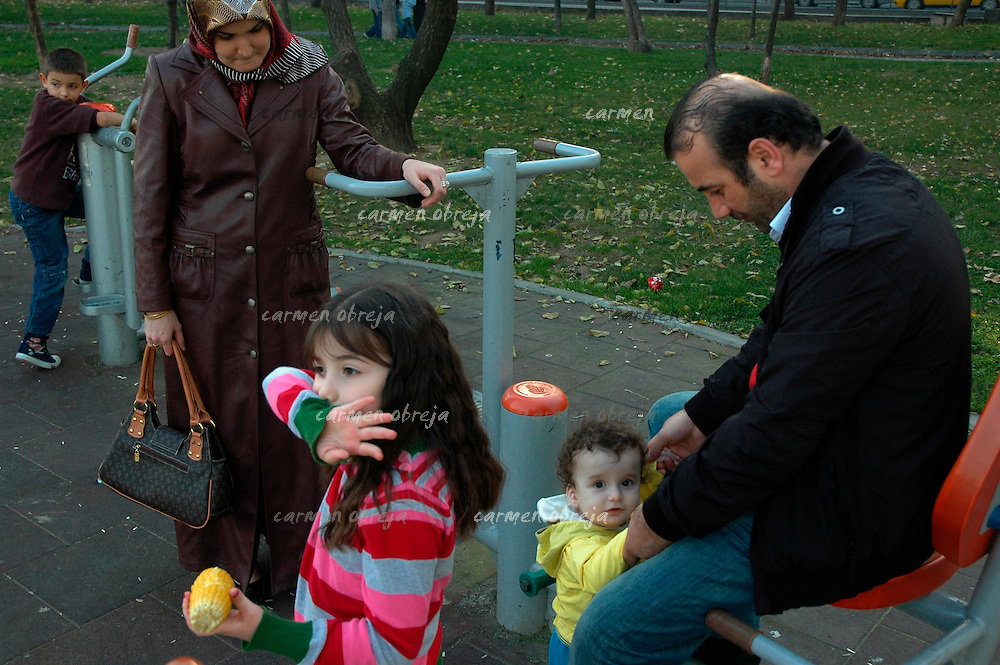 family spending Sunday afternoon at Golden Horn