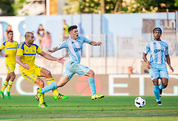 Tal Ben Haim of Maccabi  vs Tilen Nagode of Gorica during 2nd Leg football match between ND Gorica and Maccabi Tel Aviv FC (ISR) in First Qualifying Round of UEFA Europa League 2016/17, on July 7, 2016 in Sports park Nova Gorica, Slovenia. Photo by Vid Ponikvar / Sportida