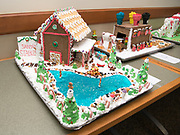 The Office of Instructional Innovation tied for third place with their entry into this year's gingerbread house decoration competition. Photo by Ben Siegel