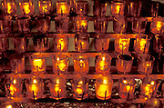 illuminated little votive candles