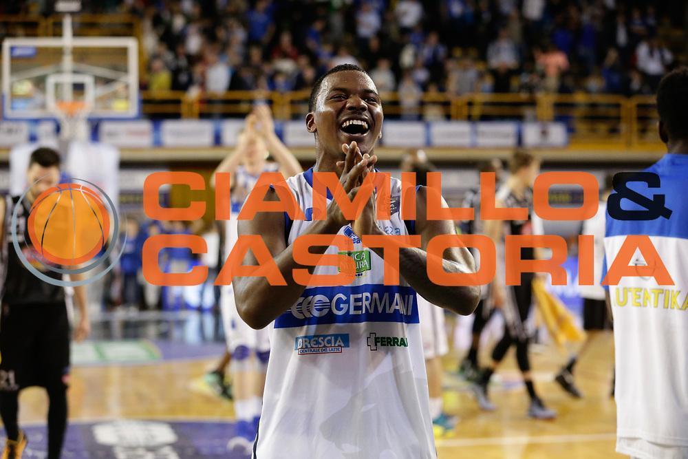 Lee Moore<br /> Germani Basket Brescia Leonessa - Pasta Reggia Juve Caserta<br /> Lega Basket Serie A 2016/2017<br /> Montichiari, 02/04/2017<br /> Foto Ciamillo-Castoria / M. Brondi