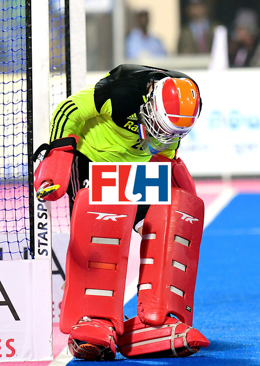 Odisha Men's Hockey World League Final Bhubaneswar 2017<br /> Match id:16<br /> Germany v Netherlands<br /> Foto: keeper Pirmin Blaak (Ned) <br /> COPYRIGHT WORLDSPORTPICS FRANK UIJLENBROEK
