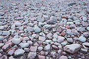 Pebbly beach at Turkey Island by Porlock Weir in Somerset, United Kingdom