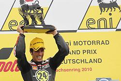 17.07.2010, Sachsenring, GER, MotoGP, Deutschland Grand Prix 2010, im Bild Toni Elias - Gresini Racing Moto2. EXPA Pictures © 2010, PhotoCredit: EXPA/ InsideFoto/ Semedia +++ ATTENTION - FOR AUSTRIA AND SLOVENIA CLIENT ONLY +++ / SPORTIDA PHOTO AGENCY