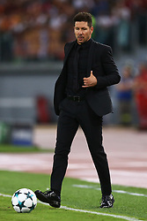 September 12, 2017 - Rome, Italy - Uefa Champions League: Group C Roma v Atletico de Madrid .Atletico de Madrid coach Diego Simeone at Olimpico Stadium in Rome, Italy on September 12, 2017. (Credit Image: © Matteo Ciambelli/NurPhoto via ZUMA Press)