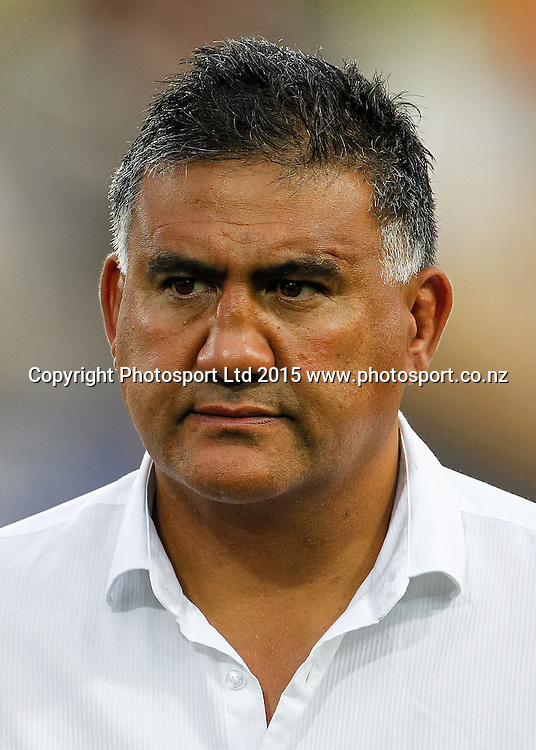 Highlanders Head Coach Jamie Joseph ahead of the Super 15 Rugby Match - Chiefs v Highlanders, 6 March 2015 at Waikato Stadium, Hamilton, New Zealand on Friday 6 March 2015.  Photo:  Bruce Lim / www.photosport.co.nz