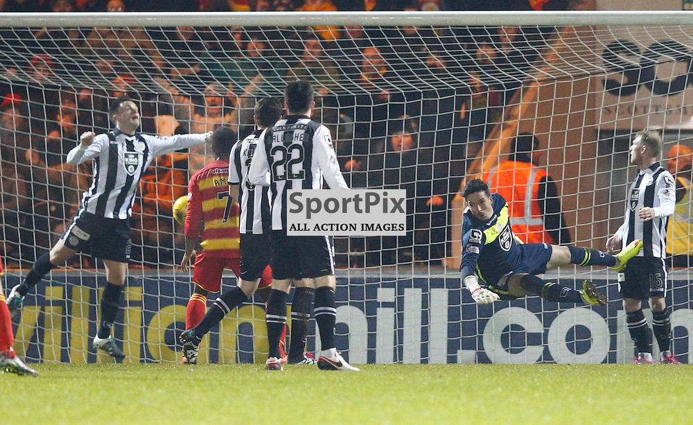St.Mirren v Partick Thistle, Scottish Cup 4th round....David Amoo scores.....(c) STEPHEN LAWSON | SportPix.org.uk