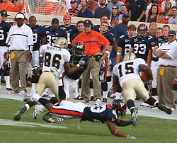 Tony Franklin (23)..The Virginia Cavaliers defeated the Western Michigan Broncos 31-19 on September 3, 2005 at Scott Stadium in Charlottesville, VA.