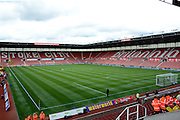 Britannia Stadium during the Barclays Premier League match between Stoke City and Liverpool at the Britannia Stadium, Stoke-on-Trent, England on 9 August 2015. Photo by Alan Franklin.
