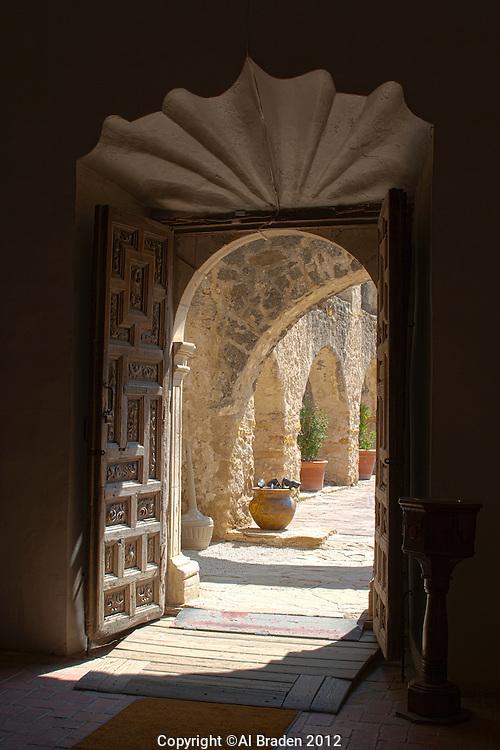 Doorway detail at Mission San Jose, San Antonio, TX