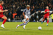 Grady Diangana in action during the EFL Sky Bet Championship match between West Bromwich Albion and Bristol City at The Hawthorns, West Bromwich, England on 27 November 2019.