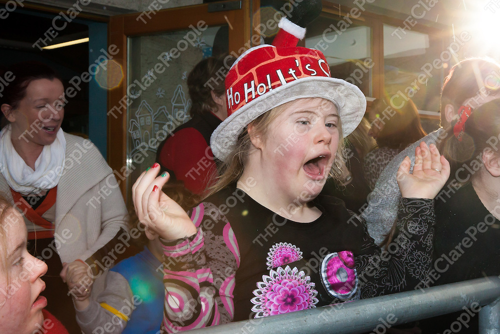 An excited Emma Hoban waiting for Santa to arrive at St Clares School, Ennis