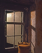 Window, Wooden Bucket, Morton Homestead, Historic Swedish Settlement, Delaware Co., PA