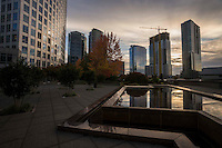 Plaza @ Concur Technologies, Downtown Bellevue, Evening