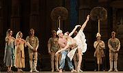 La Bayad&egrave;re<br /> The Mariinsky Ballet <br /> at The Royal Opera House, London, Great Britain <br /> rehearsal <br /> 11th August 2011 <br /> <br /> Sergey Salikov (as The Slave)<br /> <br /> Uliana Lopatkina (as Nikiya, a bayadere)<br /> <br /> Photograph by Elliott Franks