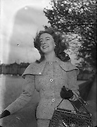 Miss Aideen O'Kelly, Abbey Actress.<br /> <br /> 4th October 1956.<br /> <br /> 04/10/1956